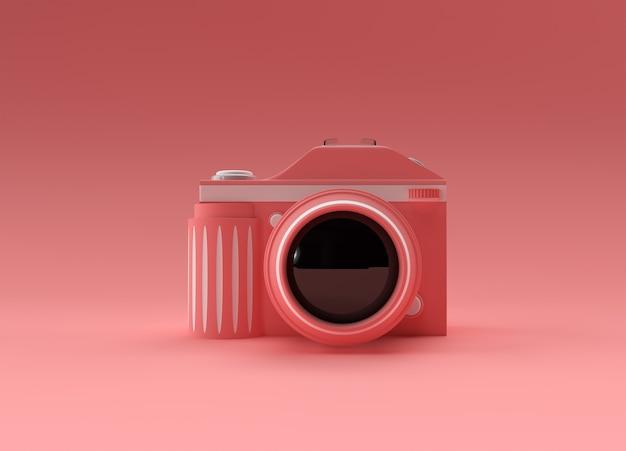 3d render câmera slr em uma ilustração colorida.