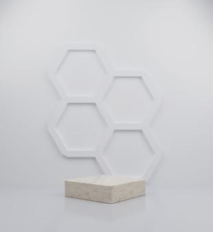 3d render cubo mármore pódio coleção ilustração de fundo abstrato