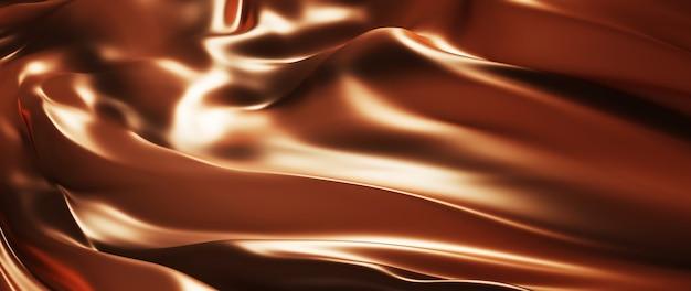 3d render de cacau escuro e marrom. folha holográfica iridescente. abstrato arte moda base.