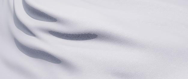 3d render de pano branco. folha holográfica iridescente. abstrato arte moda base.