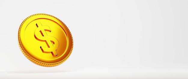 3d render de uma moeda de ouro. compras on-line e e-commerce no conceito de negócio da web. transação de pagamento online segura com smartphone.