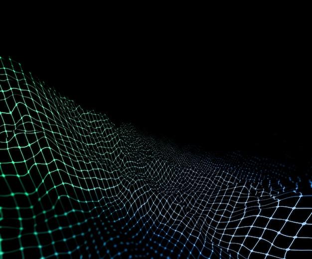 3d, render, digital, wireframe, terreno