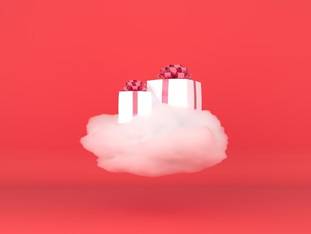 3d render display em cor pastel modelo de feliz natal e feliz ano novo