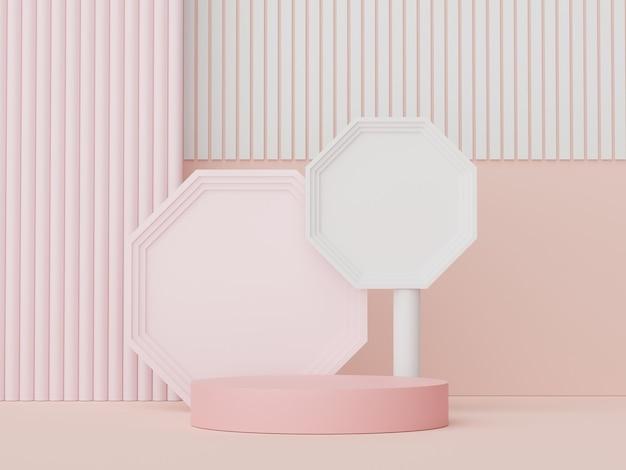 3d render display pódio para mostrar apresentação cosmética de produtos e mock up