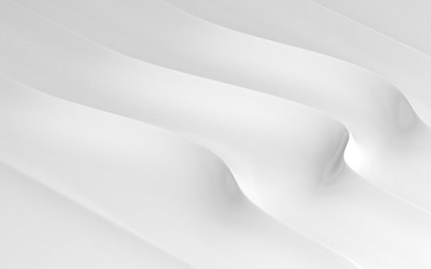 3d render do padrão abstrato branco.