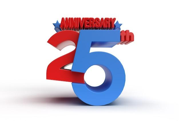 3d render ferramenta de caneta de comemoração de aniversário de 25 anos criado trajeto de grampeamento incluído no jpeg fácil de compor.