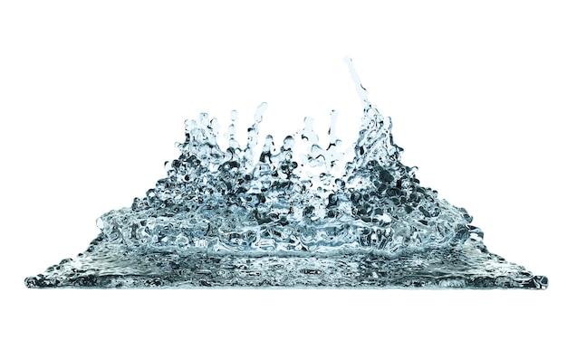 3d render ilustração digital água claro respingo líquido onda loops linha curvilínea