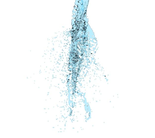 3d render ilustração digital água transparente respingo líquido