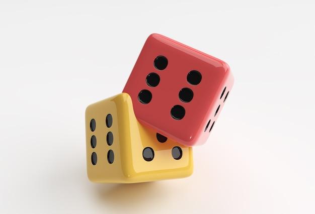 3d render ilustração queda casino dice icon ilustração design.