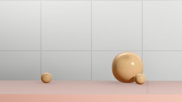 3d render imagem rosa pódio com fundo branco anúncio de exibição de produto