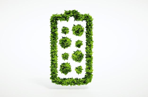 3d render isolado novo conceito de bateria alternativo com fundo branco