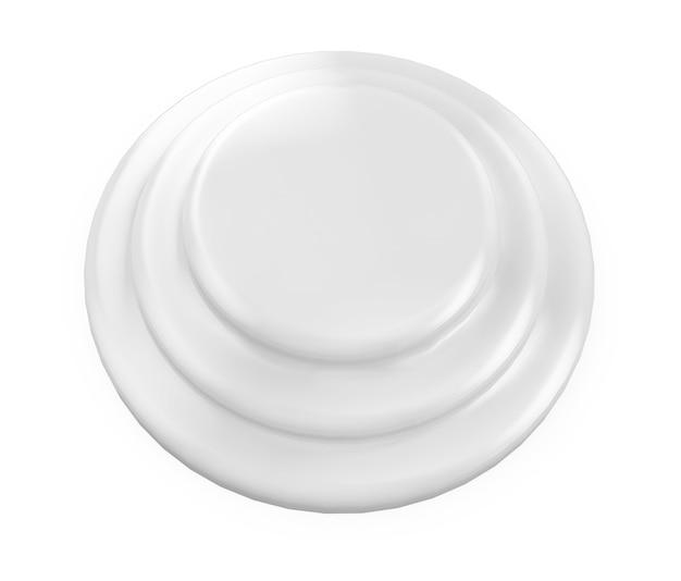 3d render isolado pódio branco vazio em fundo cinza