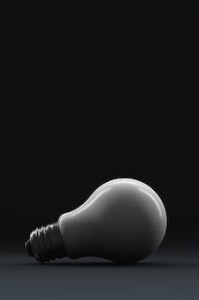 3d render lindamente iluminada lâmpada close-up em fundo preto