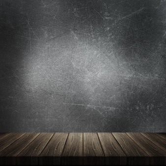 3d, render, madeira, tabela, contra, grunge, metal, fundo