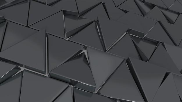 3d render moderno padrão cinza triangular de fundo