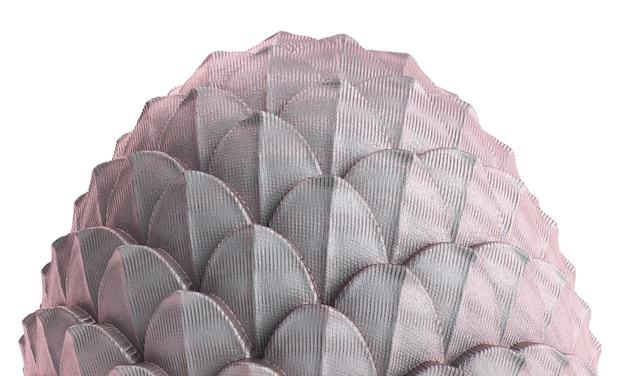 3d render ovo de dragão em fundo branco. ilustração de ovo de páscoa fanstasy