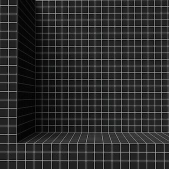 3d render, padrão de design de grade, blocos de arquitetura