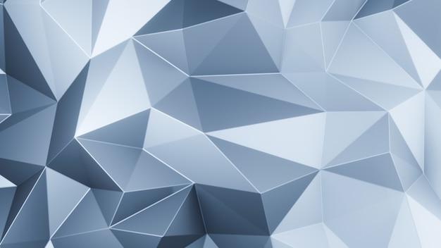 3d render polígonos de triângulo azul abstrato mosaico de fundo
