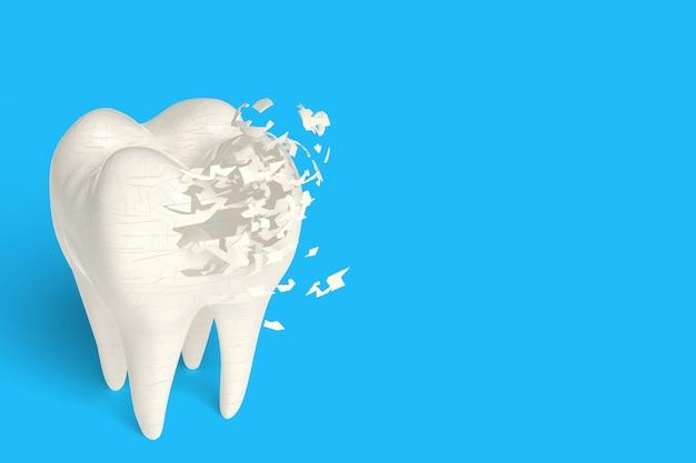 3d render poroso osso se não tiver leite, conceito de força derivada de beber leite