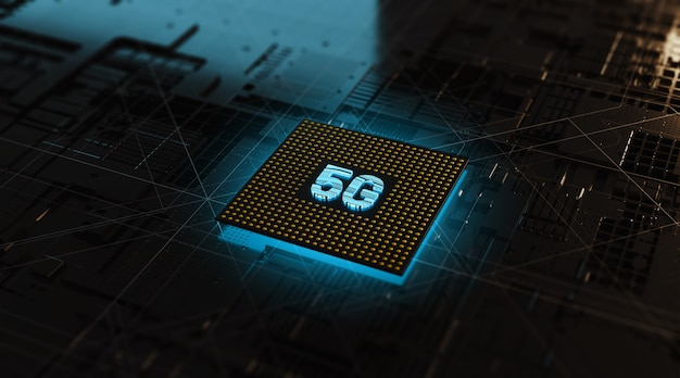 3d rendering circuit cpu chipset concept 5g