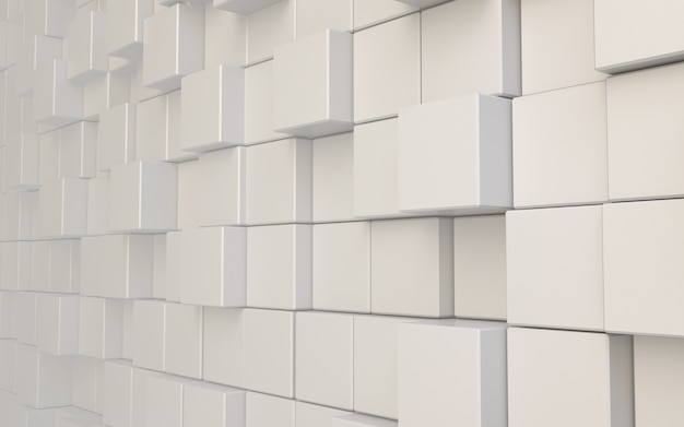 3d rendering cube abstract background