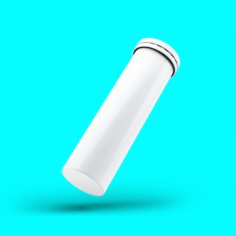 3d rendering efervescent bottle isolated on toscha