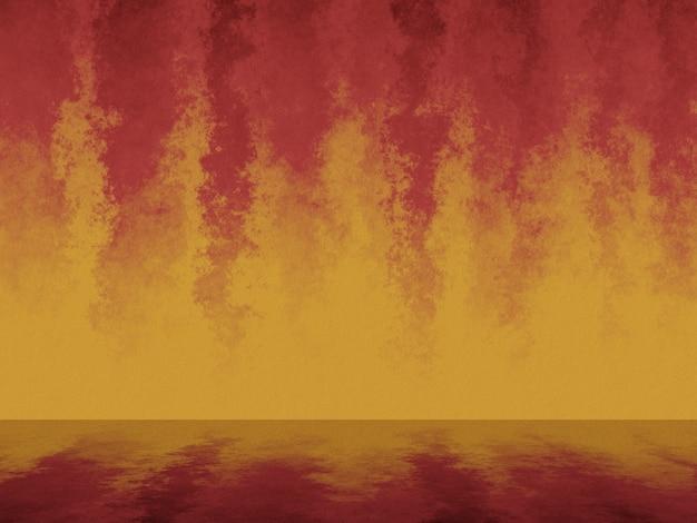 3d renderizado abstrato fogo parede de cimento