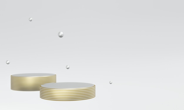 3d renderizado em ouro e prata