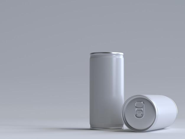 3d renderizado lata de refrigerante sem um rótulo