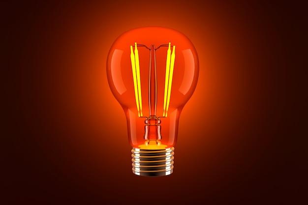 3d rendeu a ilustração de uma lâmpada clássica.