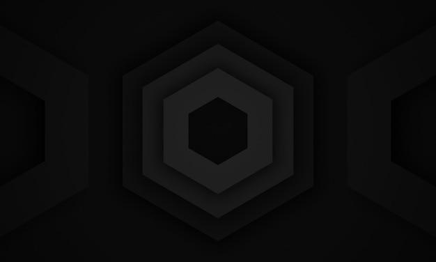 3d rendeu o fundo geométrico preto abstrato.