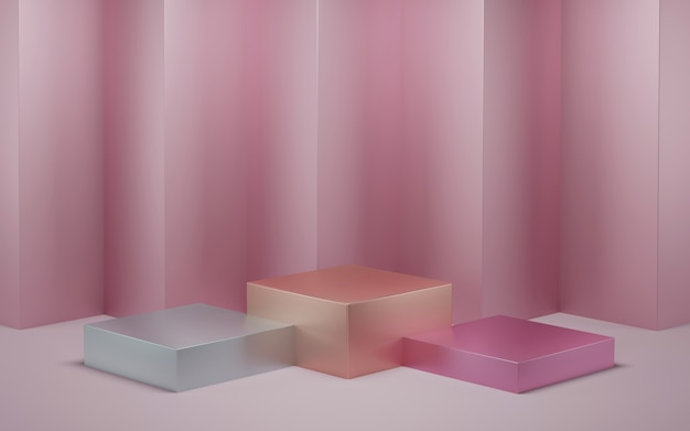 3d rendição, cor pastel cosmética abstrata.
