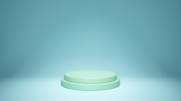 3d rendido. pedestal para exibição, pedestal ou plataforma, suporte de produto em branco.