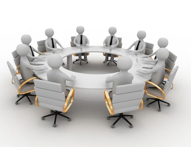 3d reunião de negócios