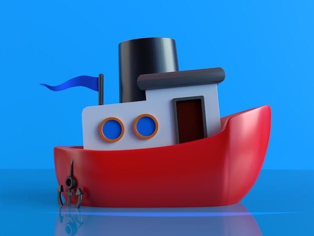 3d textura mate design de navio com renderização tridimensional foto premium