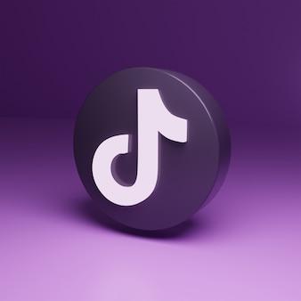 3d tiktok logo icon alta qualidade render