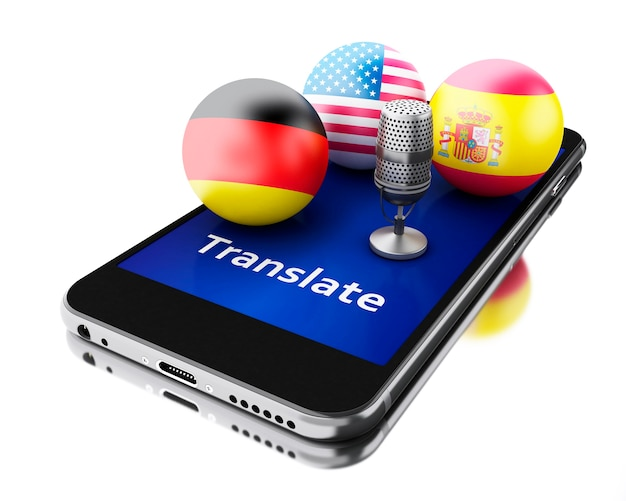 3d traduzir línguas estrangeiras no smartphone.