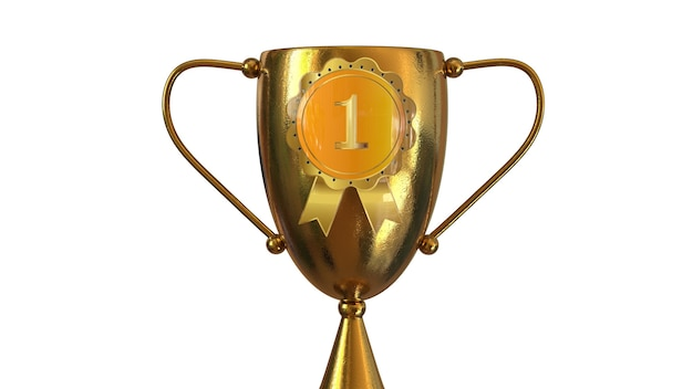 3d trophy gold award