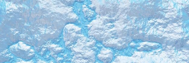 3d vista superior do terreno topográfico