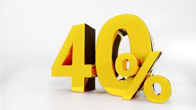 40% símbolo dourado