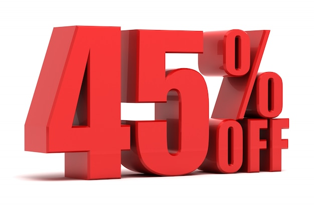 45 por cento de promoção
