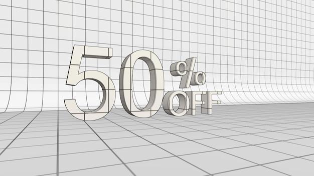 50 por cento de desconto na renderização em 3d