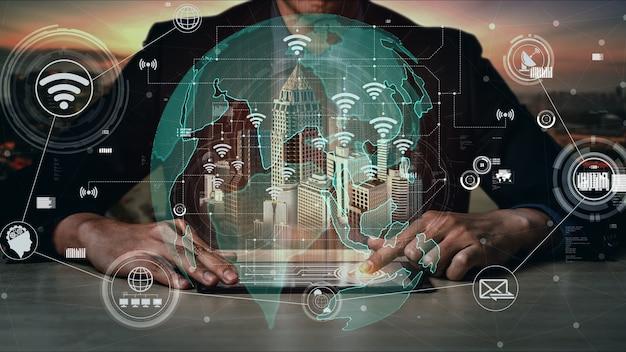 5g tecnologia de comunicação de rede de internet conceitual