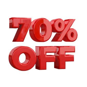 70% de desconto, oferta especial, grande oferta, venda. setenta por cento