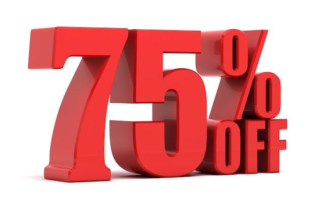 75 por cento de promoção