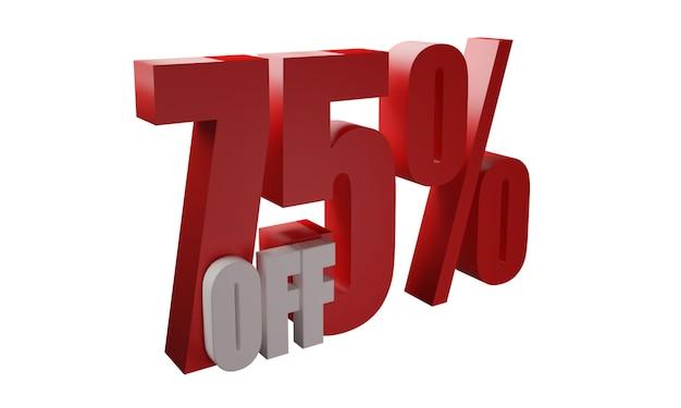 75 por cento fora de imagens