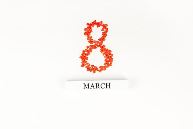 8 de março cartão do dia das mulheres internacionais