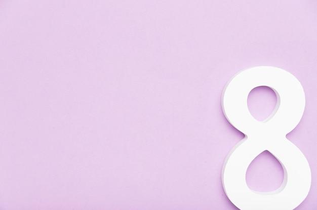 8 de março de conceito de símbolo com espaço de cópia