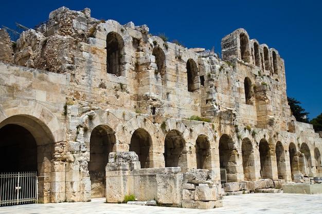 A, acrópole, de, atenas, grécia