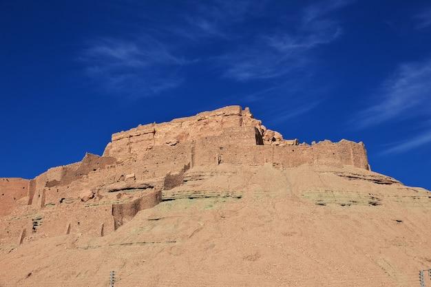 A antiga fortaleza no deserto do saara, argélia